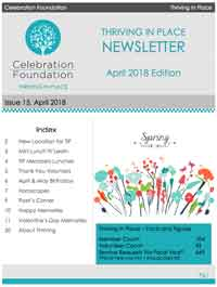 Thriving Newsletter -- April 2018